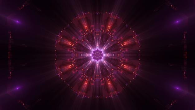 Kosmischer hintergrund mit bunten laserlichtern