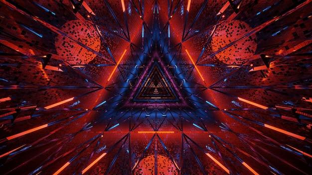 Kosmischer hintergrund von schwarz-blauen und roten laserlichtern - perfekt für eine digitale tapete