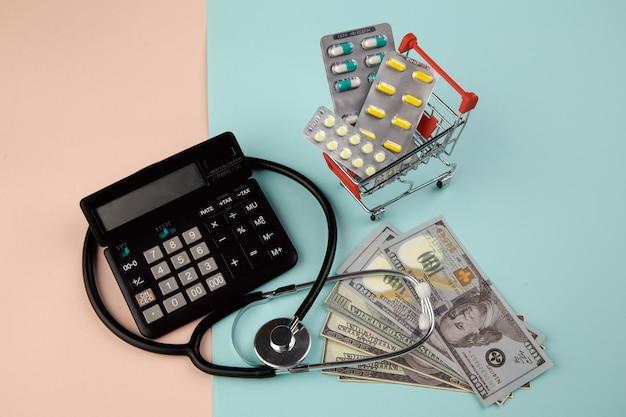 Kostenkonzept für das gesundheitswesen.