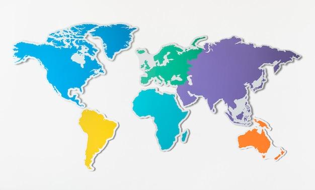 Kostenlose leere karte von asien