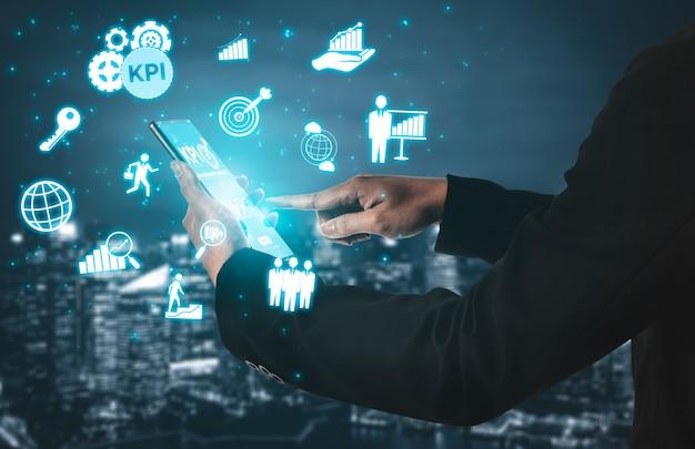 Kpi key performance indicator für business concept