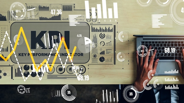 Kpi key performance indicator für business konzeptionell