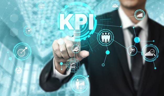 Kpi key performance indicator für geschäftskonzept
