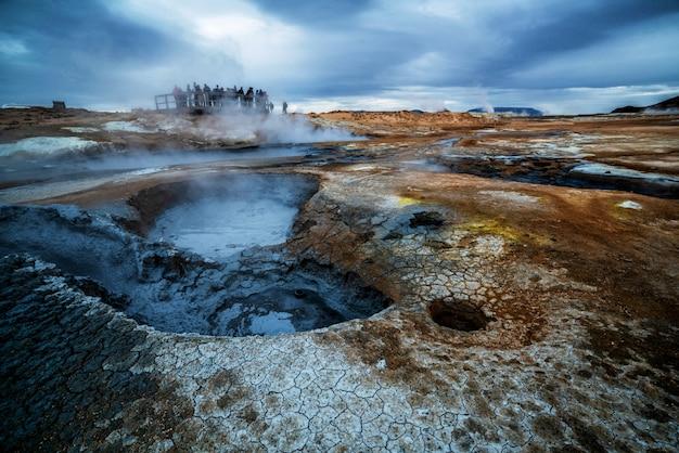 Krafla geothermie von hverir, namafjall in island