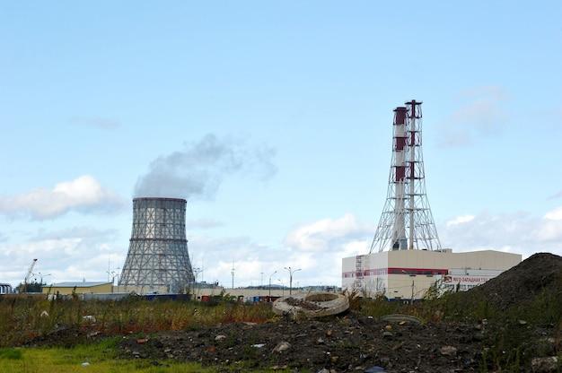 Kraft-wärme-kopplung im südwesten in st. petersburg, russland