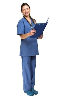 Krankenschwester porträt in voller länge