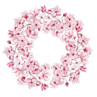Kranz mit den kirschblüten