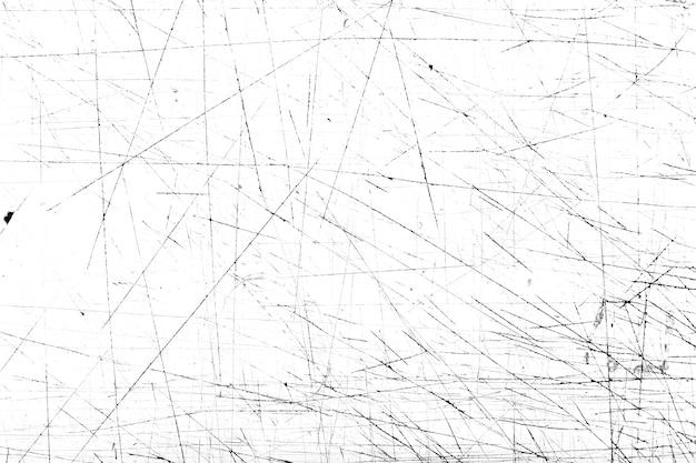 Kratzer und schmutzbeschaffenheit auf weißem hintergrund