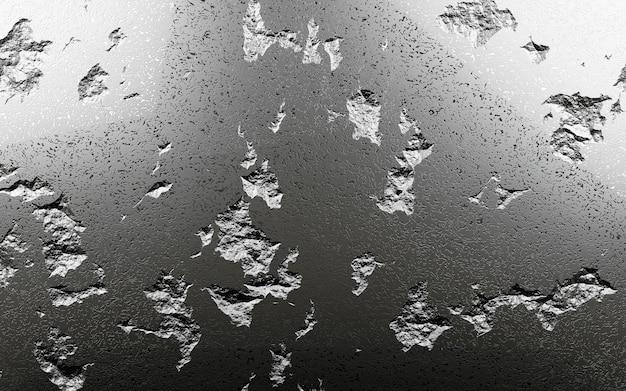 Kratzter hintergrund des schwarzen steins, 3d-darstellung