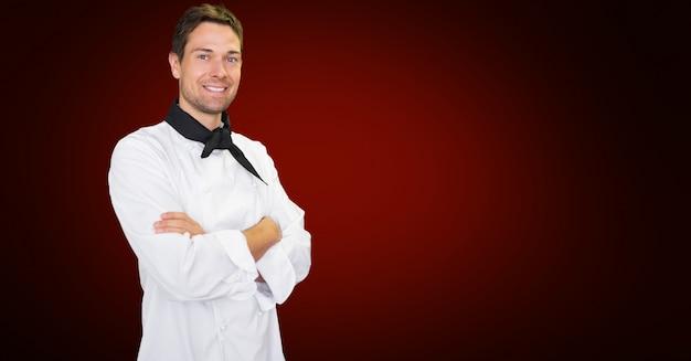Krawatte beruf porträt tabellen lächelnd