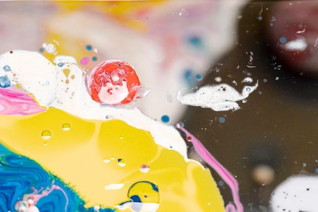 Kreative bunte mischung von acrylfarben