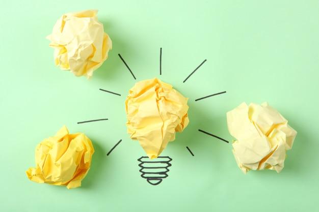 Kreative konzeptidee eine neue ideennahaufnahme