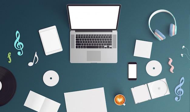 Kreative mock-up-laptop
