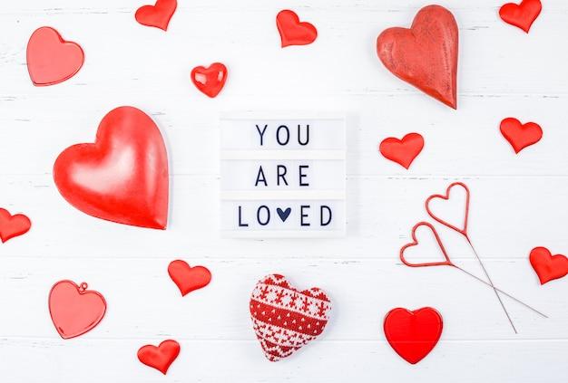Kreative valentinstag romantische komposition