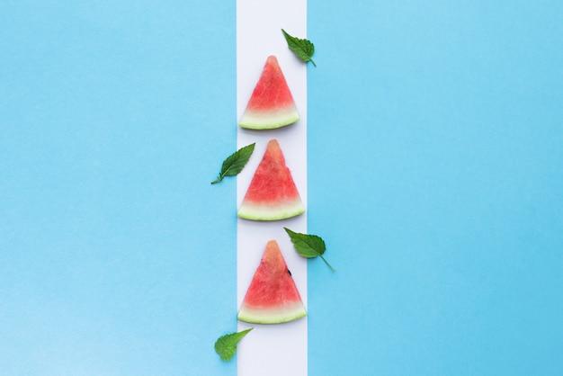 Kreative wassermelone für sommer, frühling.