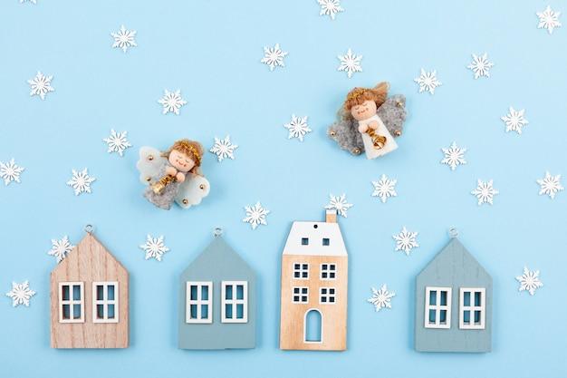 Kreative weihnachtskarte und grußkarte für das neue jahr