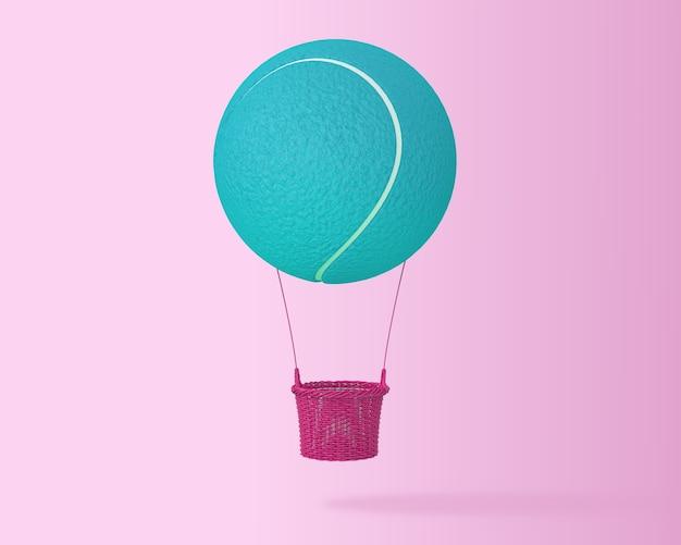 Kreativer großer heißluftballon des blauen tennisballs