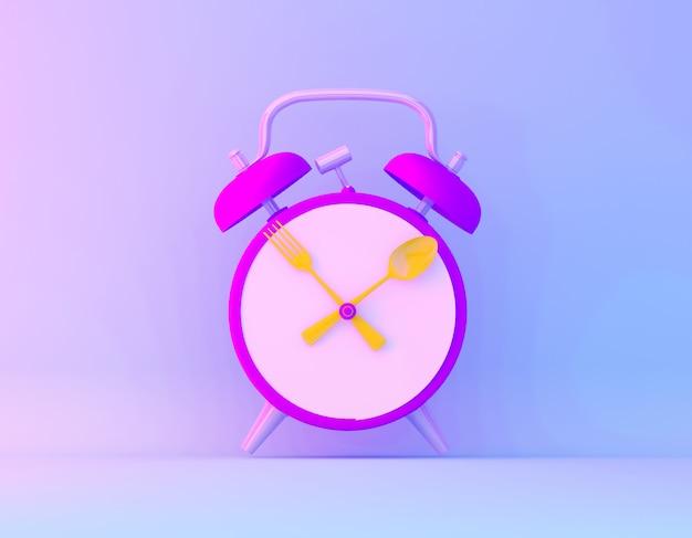 Kreativer ideenplan-scheibenwecker im purpurroten und blauen ganz eigenhändig geschriebenen farbhintergrund der vibrierenden mutigen steigung.