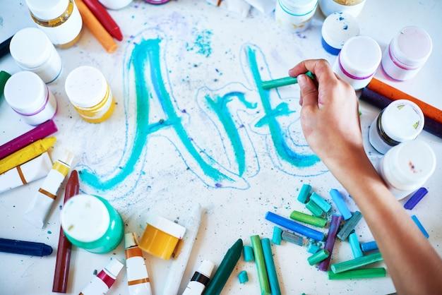 Kreativer kunsthintergrund