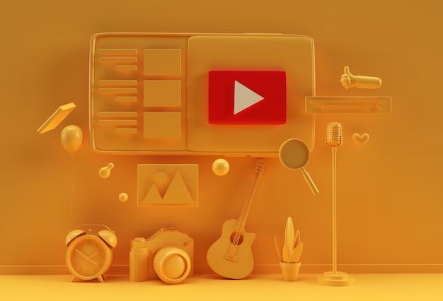 Kreatives 3d-render-design für webbanner, marketingmaterial, geschäftspräsentation, online-werbung.