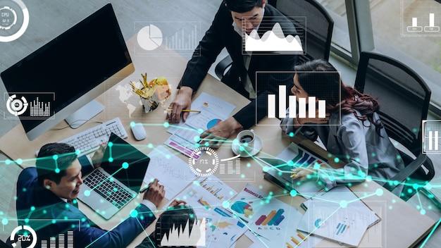 Kreatives bild der technologie zur analyse von geschäftsdaten