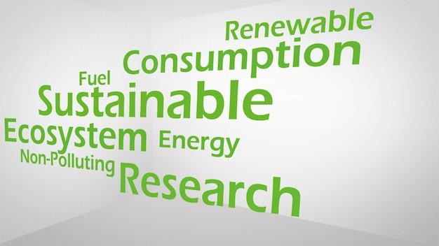 Kreatives bild des grünen wirtschaftskonzeptes