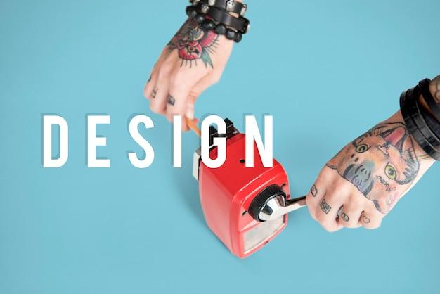 Kreatives denkendes ideen-fantasie-konzept des entwurfes