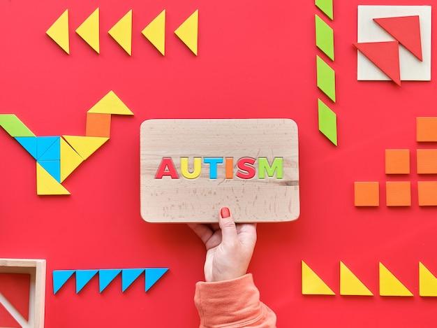 Kreatives design für autism world day