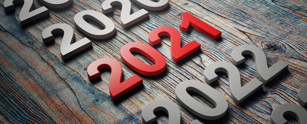 Kreatives designkonzept für das neujahrsfest