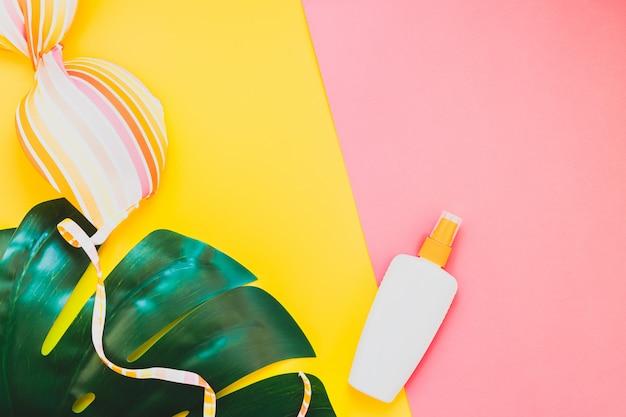 Kreatives flaches lagekonzept der sommerferien