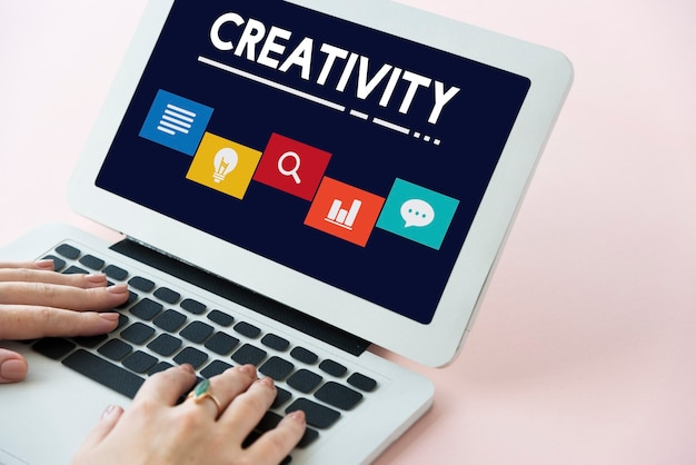 Kreatives ideen-icon-boxen-konzept
