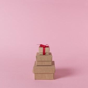 Kreatives layout von geschenkboxen