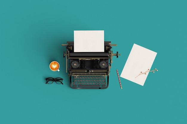 Kreatives mock-up-vintage-farbton papier