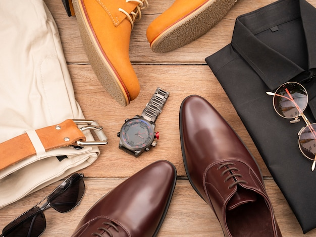 Kreatives modedesign für männer freizeitkleidung gesetzt