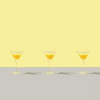 Kreatives vorderansichtmuster mit brille auf grauem hintergrund. vorderansicht minimale komposition.