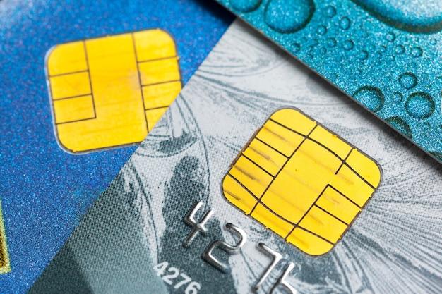 Kreditkarte nahaufnahme schuss