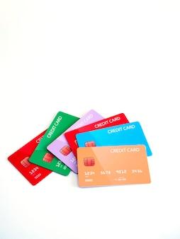 Kreditkarten verschiedener banken