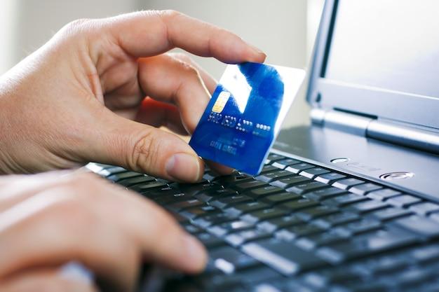 Kreditkartengeschäft kauf moderner pc