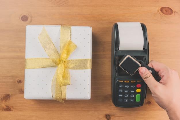 Kreditkartenleser und geschenk