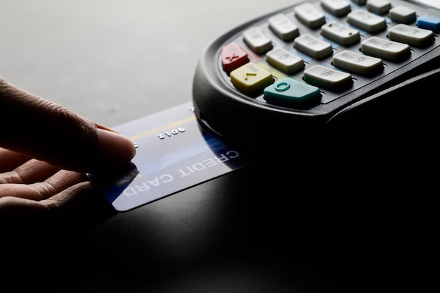 Kreditkartenzahlung, kauf und verkauf von produkten und dienstleistungen