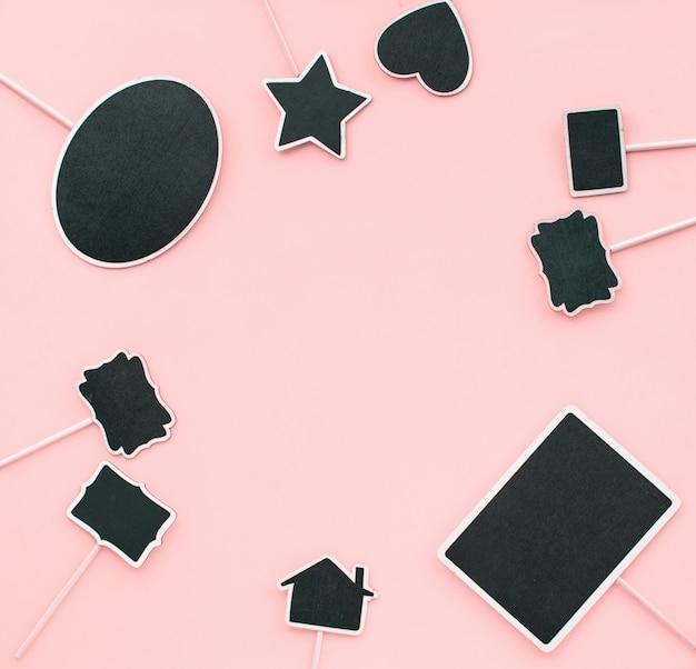 Kreidebrett frames paar objekte partyeinladung