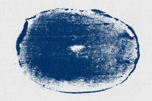 Kreis auf weißem stoff gestempelt