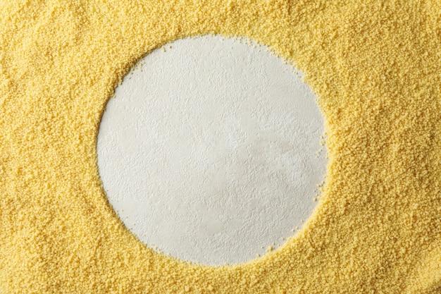 Kreis aus couscous
