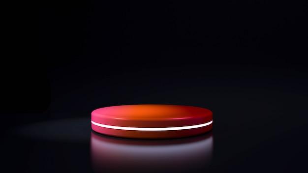 Kreis bühne neonlicht. abstrakter futuristischer hintergrund