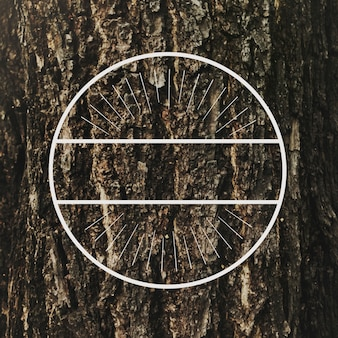 Kreis-runder abzeichen-banner-vektor