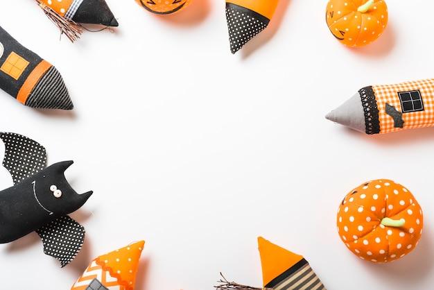Kreis von halloween-spielzeug