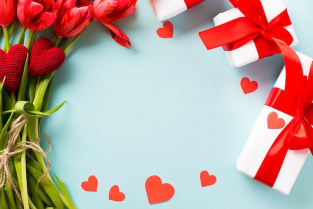 Kreis von valentinstag präsentiert