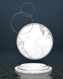 Kreisförmige plattformmarmoroberflächen