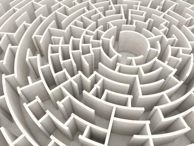 Kreislabyrinth 3d