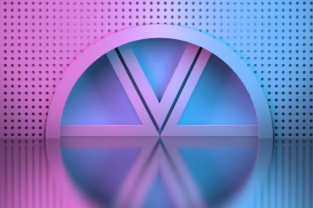 Kreisnische und dahinter liegende dreiecke
